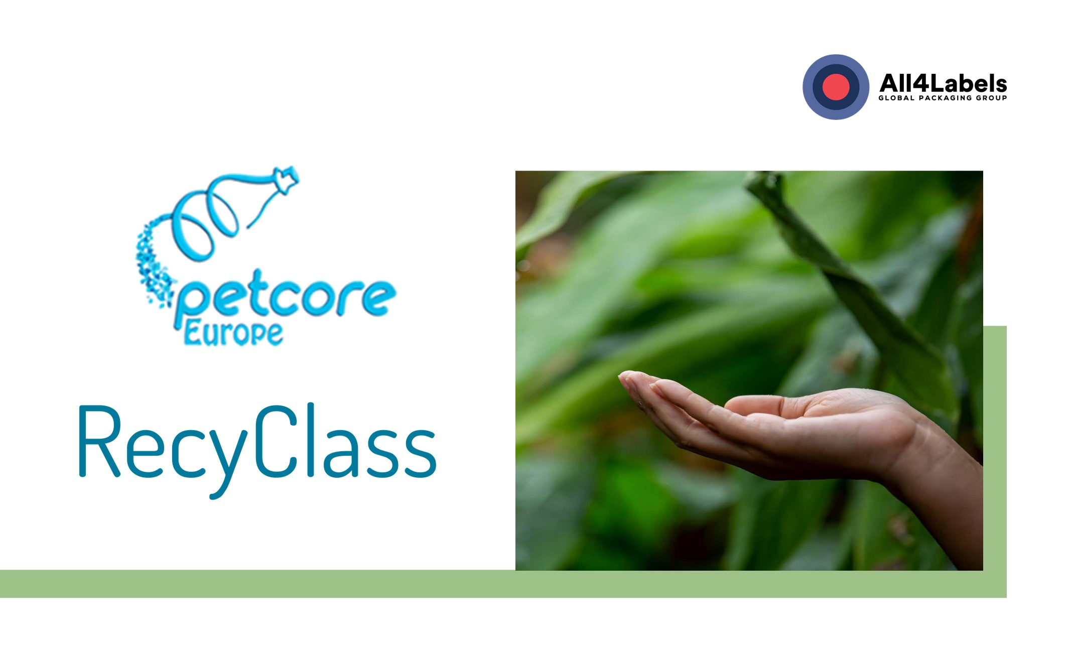 All4Labels joins the initiatives Petcore and RecyClass as part of its sustainability strategy