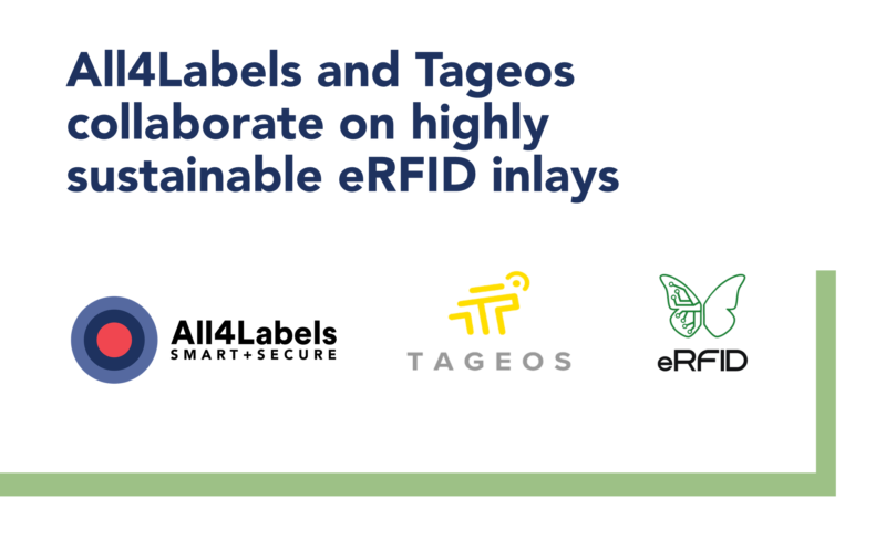 Tageos and All4Labels collaborate to drive breakthrough in market-ready, highly sustainable RFID inlays